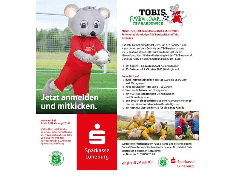 TOBIS Fußballcamp BEIM TSV BARDOWICK